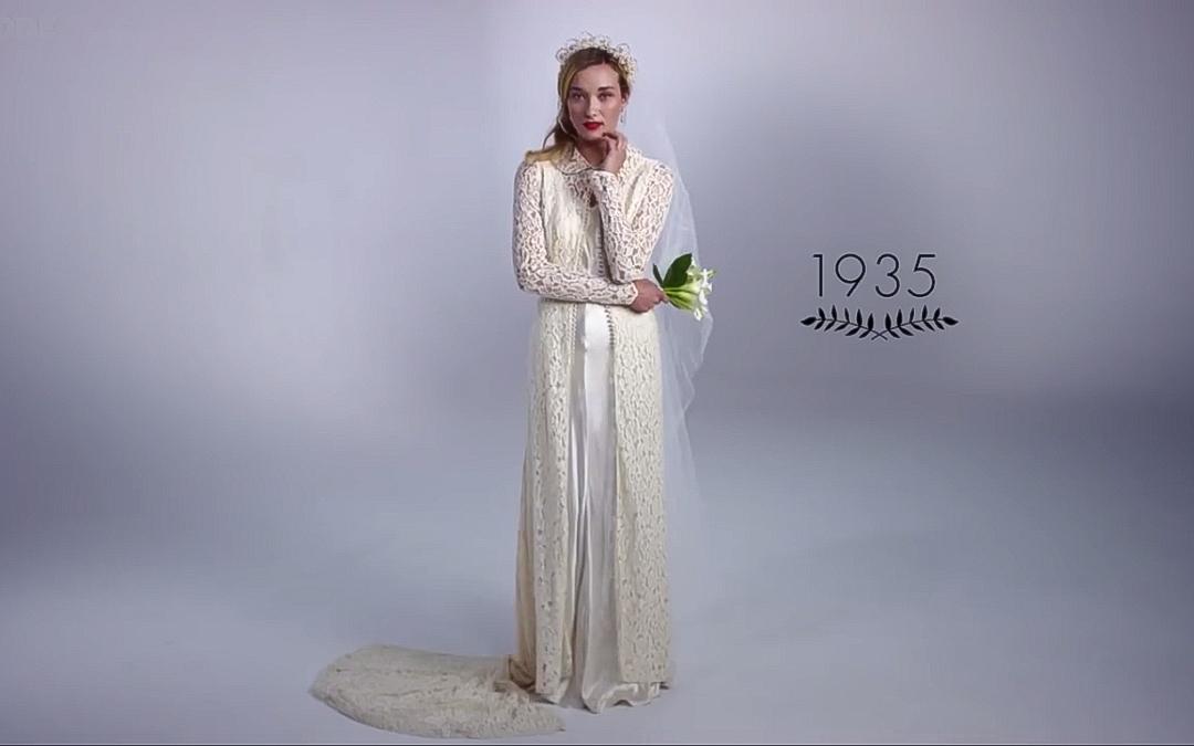 100 év Menyasszonyi Divat