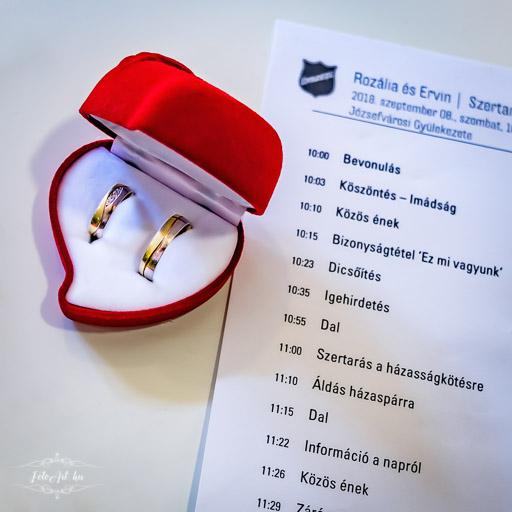 Karikagyűrű és Esküvői Forgatókönyv